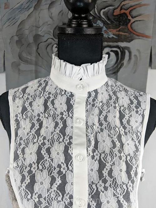lace kimono collar