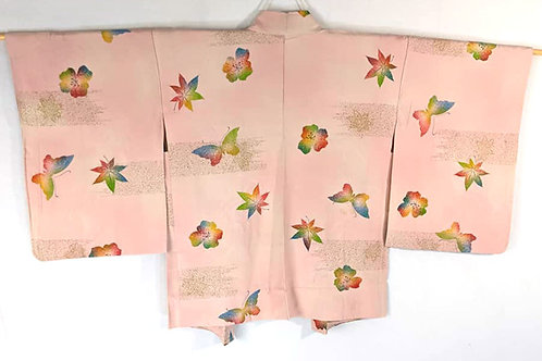 pink haori with butterflies from japan