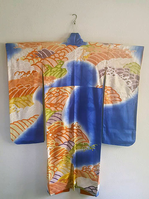 Blue Furisode Kimono
