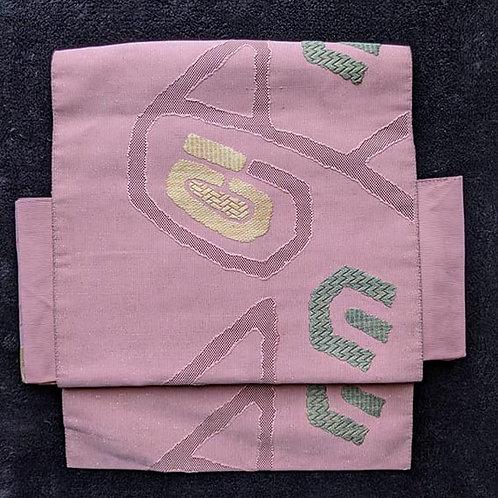 Bubblegum Pink & Green Tsuke Obi
