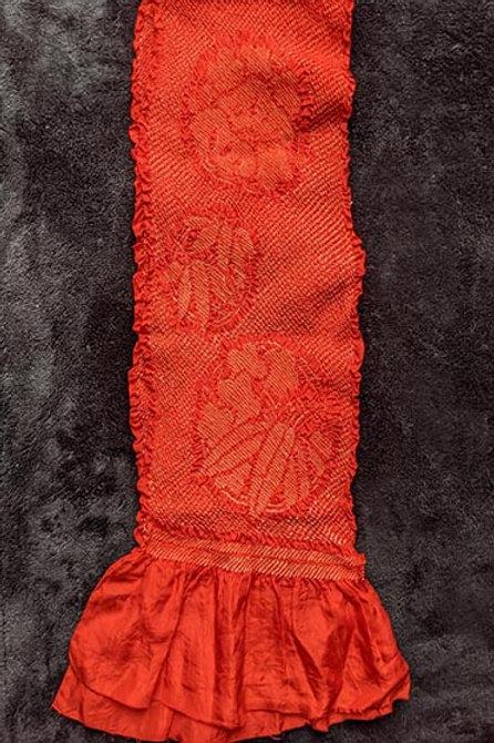 red obiage with shibori