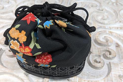 Black Japanese Basket Bag