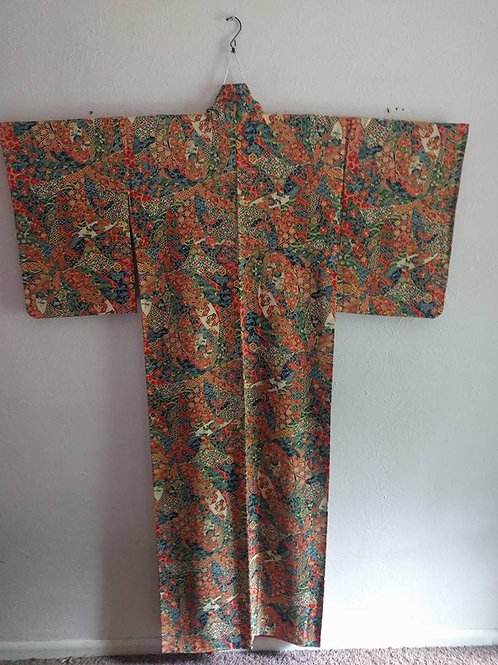Bold Pattern Japanese Kimono For Sale