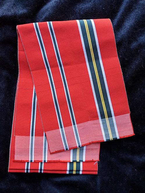 Red & Black Hanhaba Obi