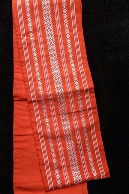 orange hanhaba obi for yukata kimono