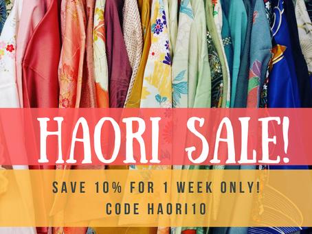 Save 10% On ALL Women's Haori!