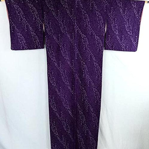 royal purple japanese kimono