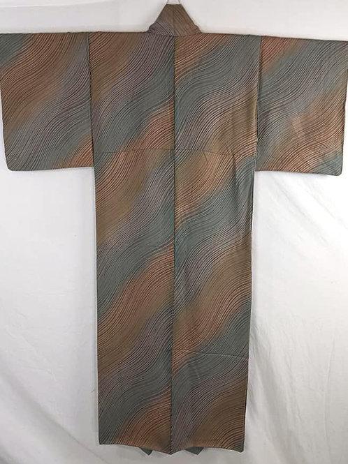 japanese kimono for women blue brown