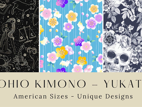 Coming Soon: Custom Yukata Designs & LARGE USA Sizes
