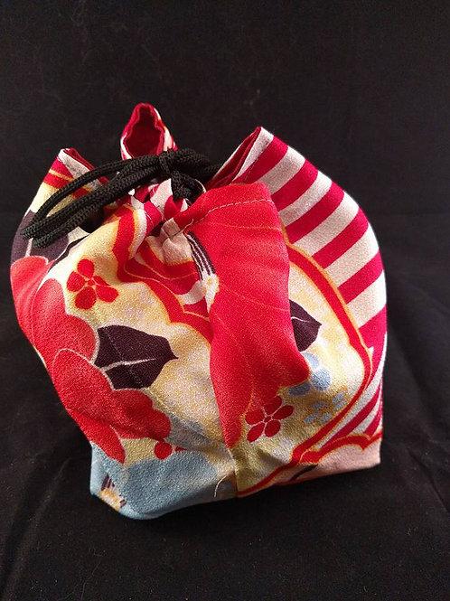 Kinchaku - Kimono Drawn String Bag