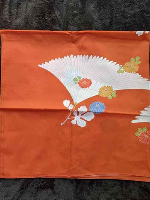 orange floral Furoshiki
