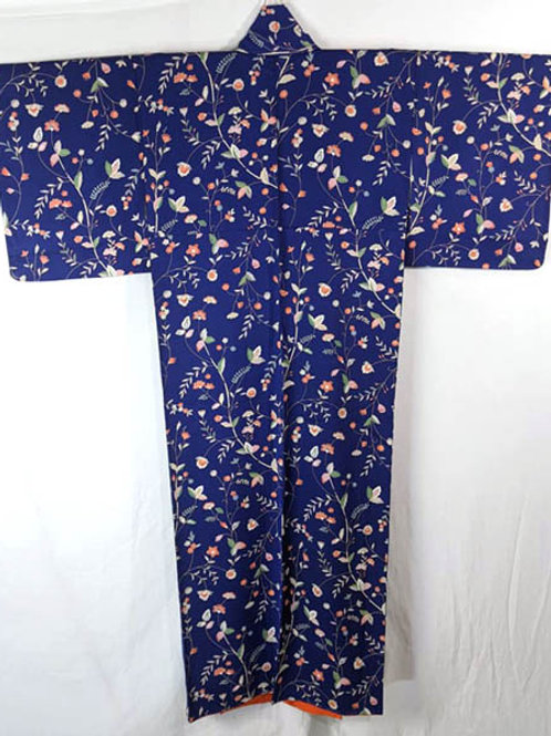 blue japanese kimono robe from japan authentic