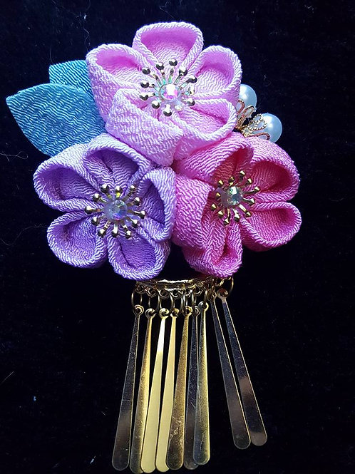 Pink & Purple Kanzashi