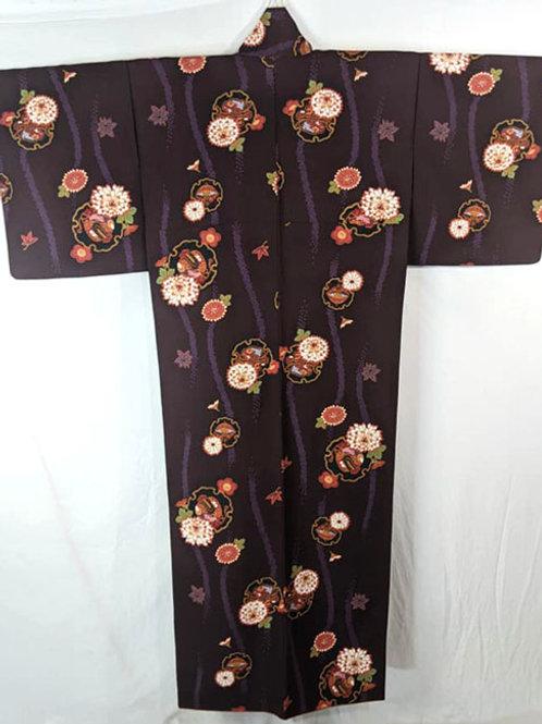 large dark purple kimono