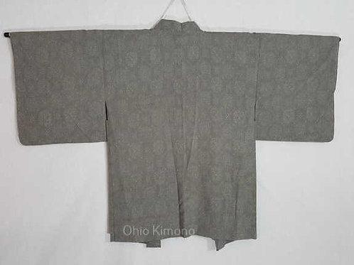 grey women's haori