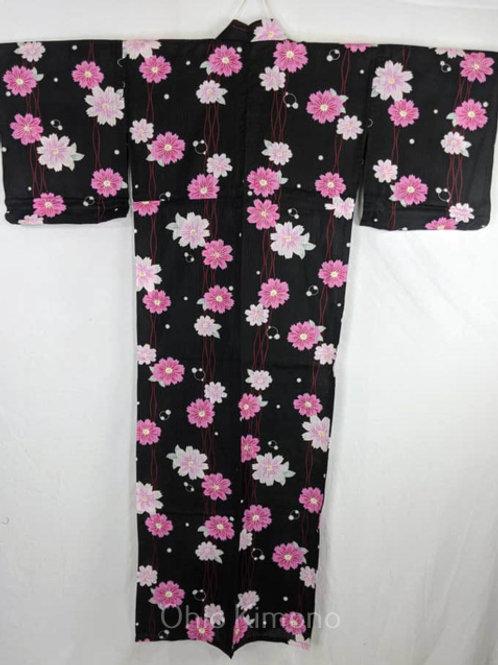 black cotton yukata for women cosplay