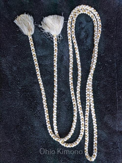White & Gold Obijime