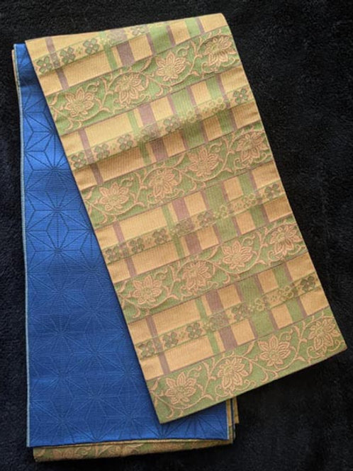 green and blue obi for kimono