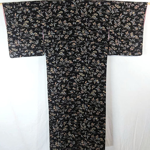 black kimono robe from japan