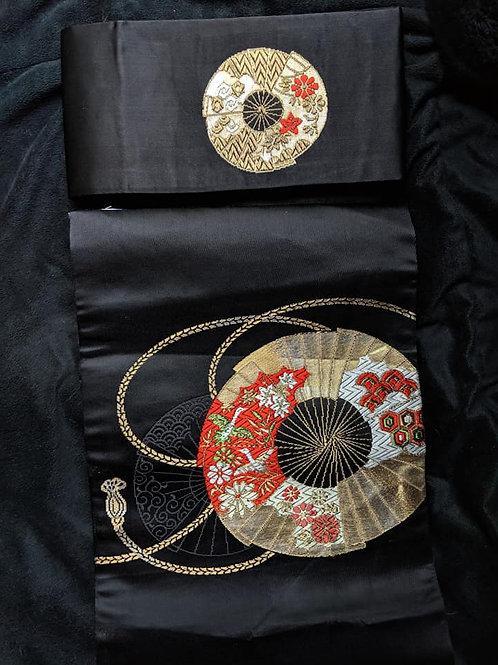 Black & Gold Tsuke Obi