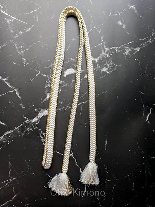 gold and white obijime
