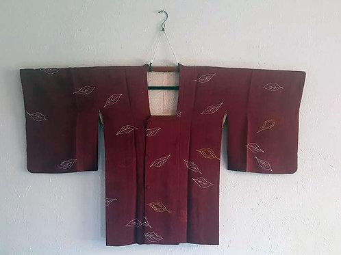 Red Michiyuki For Japanese Kimono