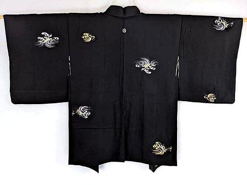 black silk haori vintage