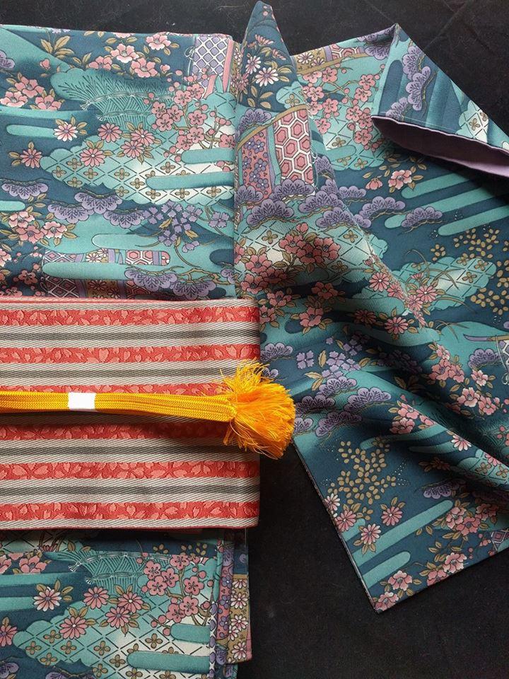 Japanese kimono cordination