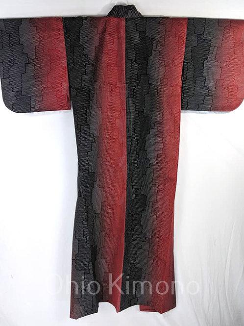 Black & Red Japanese Kimono