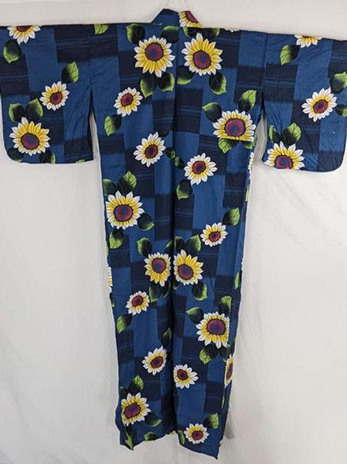 Dark Blue & Sunflower Yellow Yukata