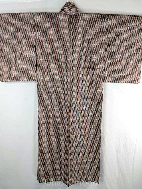 Beige & Blue Japanese Kimono