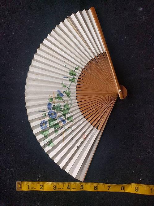 Blue Flower Folding Sensu