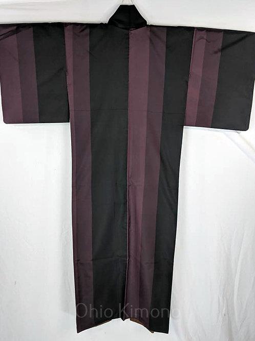 Plum Purple & Black Japanese Kimono