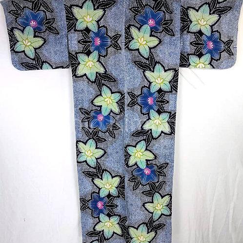 blue yukata kimono
