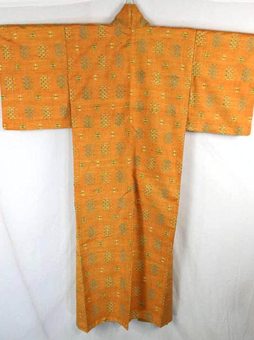 orange meisen japanese kimono