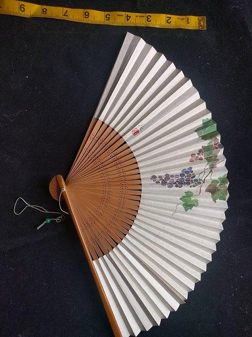 Vintage Grape Folding Fan