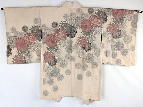 cream colored vintage haori for women from japan