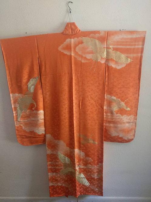 Orange Furisode