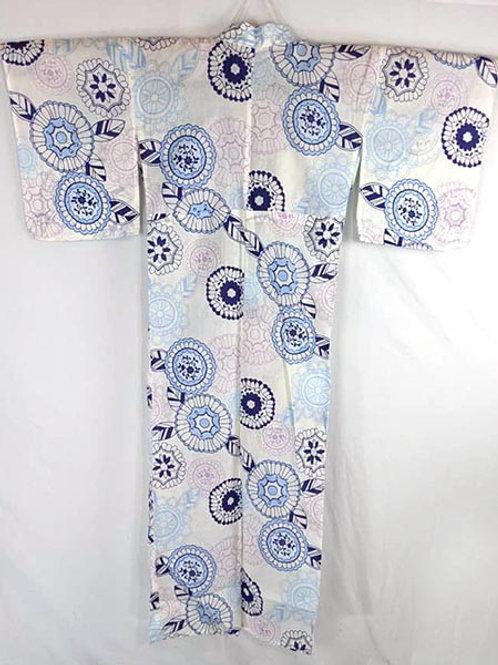 White & Powder Blue Yukata