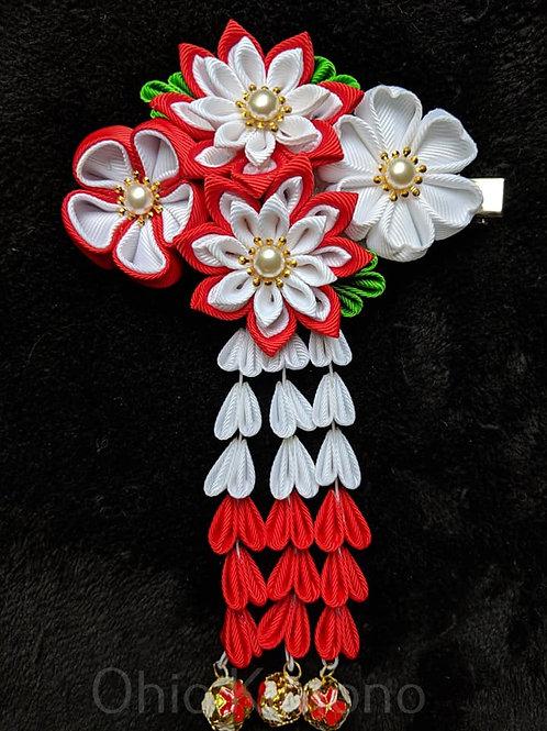 Red & White Kanzashi