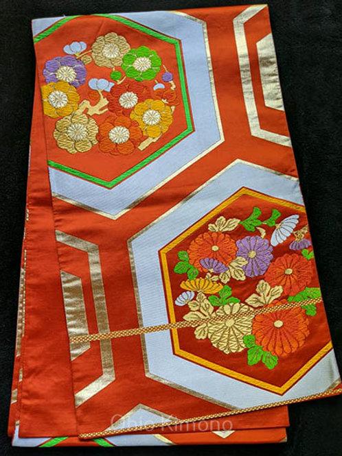 orange fukuro obi