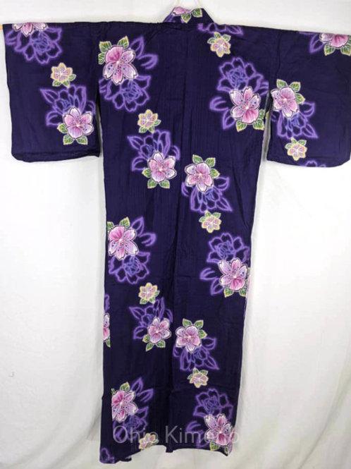 purple yukata pink sakura