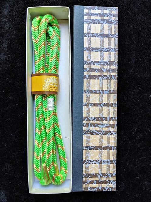 Lime Green & Gold Obijime