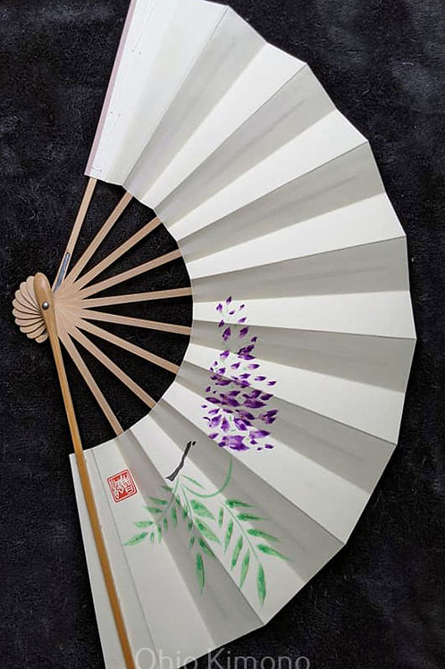 hand painted japanese fan