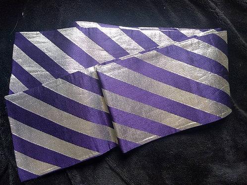 Purple & Silver Odori Obi