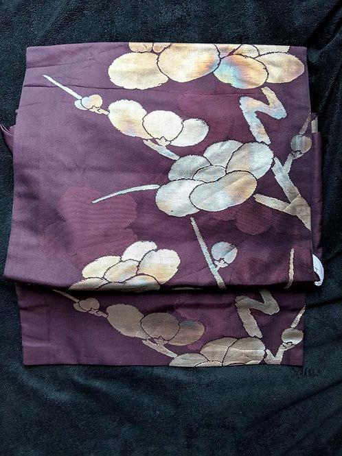 Plum Purple & Gold Tsuke Obi