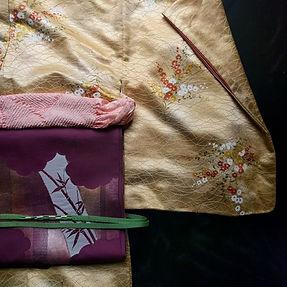 Japanese Kimono With Obi