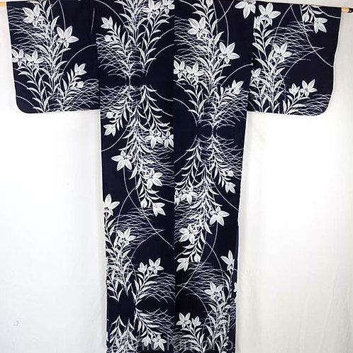 yukata vintage blue