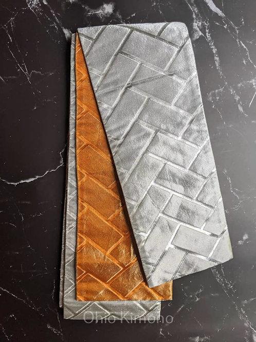 Silver & Copper Orange Odori Obi