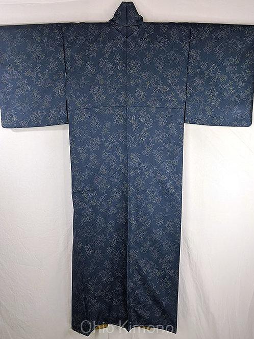 blue japanese kimono